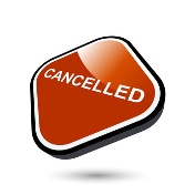 Red cancelled sign